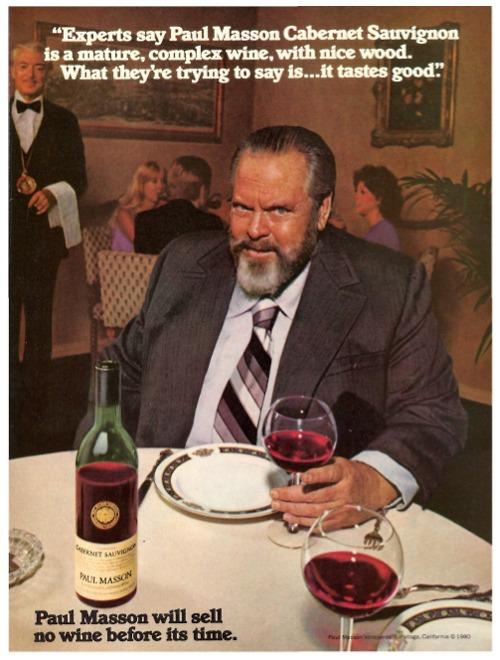 Orson Wells anuncio Paul Masson