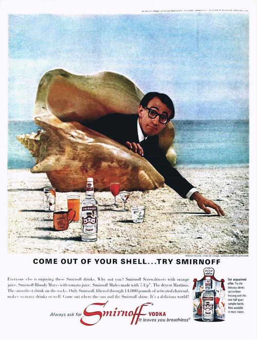 Woody Allen anuncio vodka
